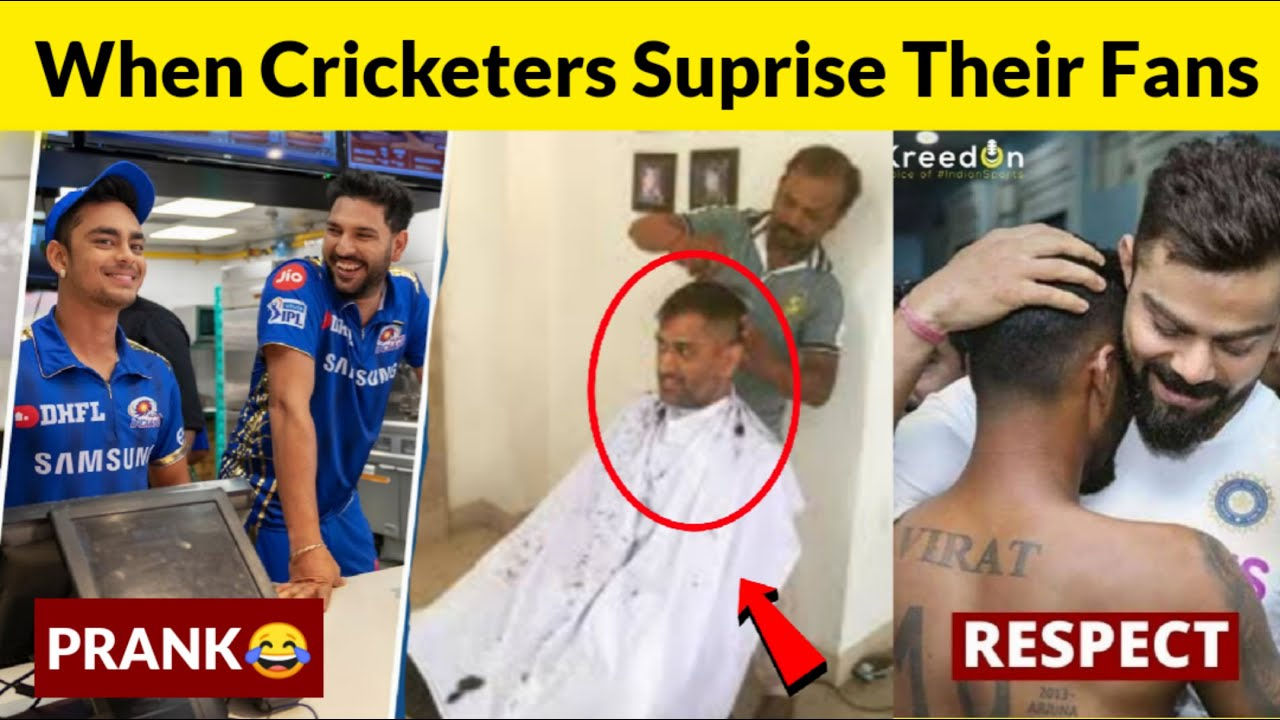 Cricketers surprising their fans | Beautiful & Heart Touching Respect Moments in cricket