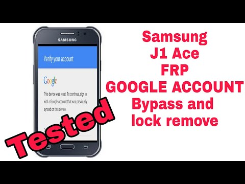 Samsung J1 Ace J110f and J110h frp remove google account lock bypass tested