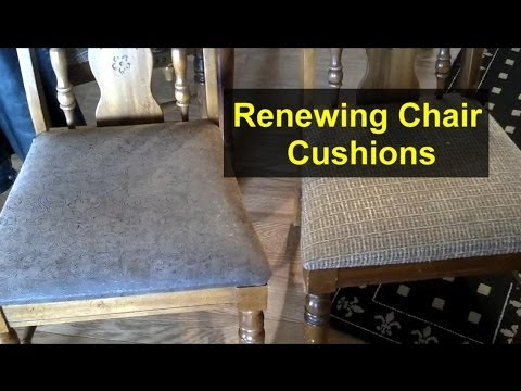 Re-cover chair cushions with new material - Home Repair Series