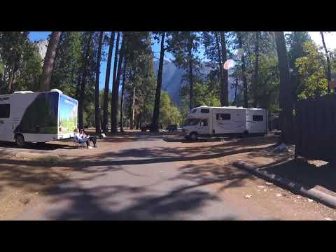 Drive Thru Video of LOWER Pines Campground - Yosemite Valley RV Tent Camping Lodging