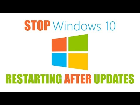 How to Stop Windows 10 from Restarting after Updates