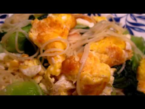 Cooking - egg fried angel hair
