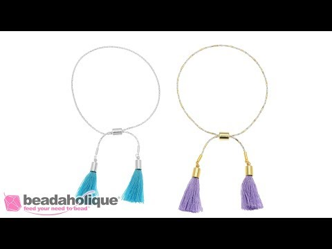 How to Make an Adjustable Slider Bracelet with Snake Chain and Tassels