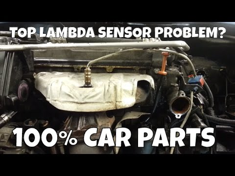 How to Change Replace Top Lambda Sensor Oxygen Sensor Peugeot 206