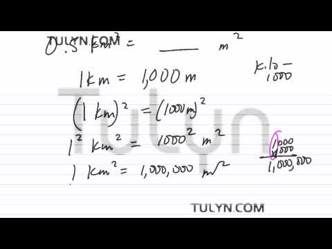 Conversion of Metric Units: Convritng Squared Kilometers to Squared Meters