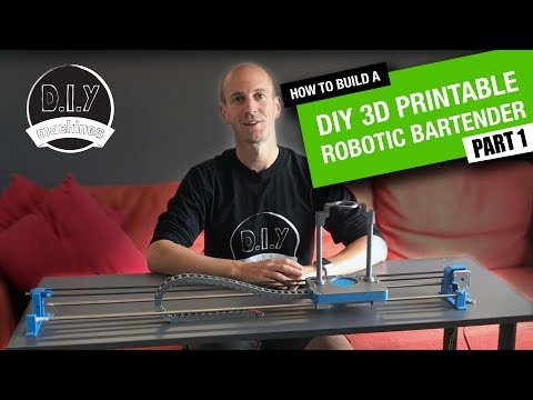 How to build an Arduino based DIY Robotic Bartender - Part 1