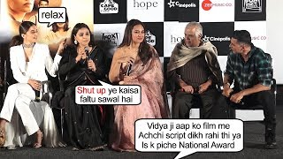 Vidya Balan LASHES Out On Reporter For Saying That She Did This Movie For National Award
