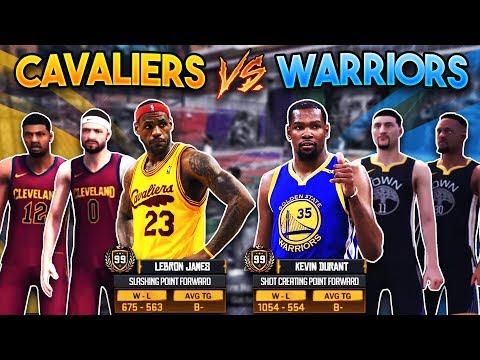 CAVS vs WARRIORS AT THE PARK!! 2018 NBA Finals LeBron vs KD at the Playground! (NBA 2K18 MyPark)