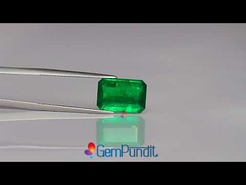4.34 carats Emerald from Zambia - GRS Certified