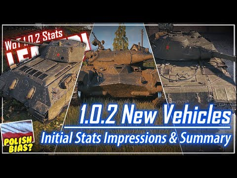 LEAKED! 1.0.2 New Vehicles - Initial Stats Summary || World of Tanks
