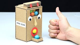 How to Make Gumball Dispenser from Cardboard