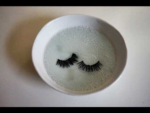 How to clean FALSE lashes NEW simple WAY 2017