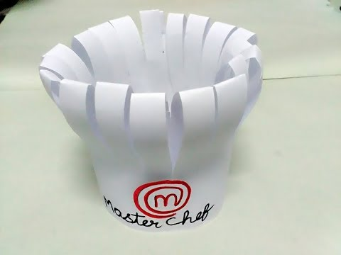 How to make master chef cap || DIY cooking cap from paper