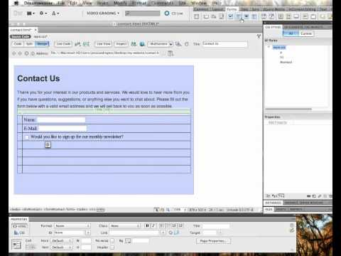 Web Design - Creating a Basic Contact Form