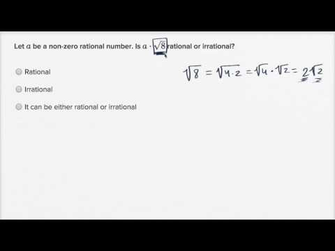 Worked example: rational vs. irrational expressions (unknowns) | High School Math | Khan Academy