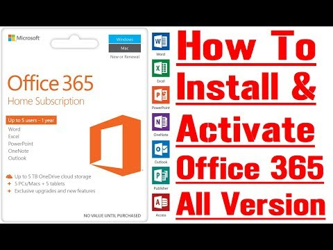 How to Activate & Install Proper Office 365 Pro, & all version full guide
