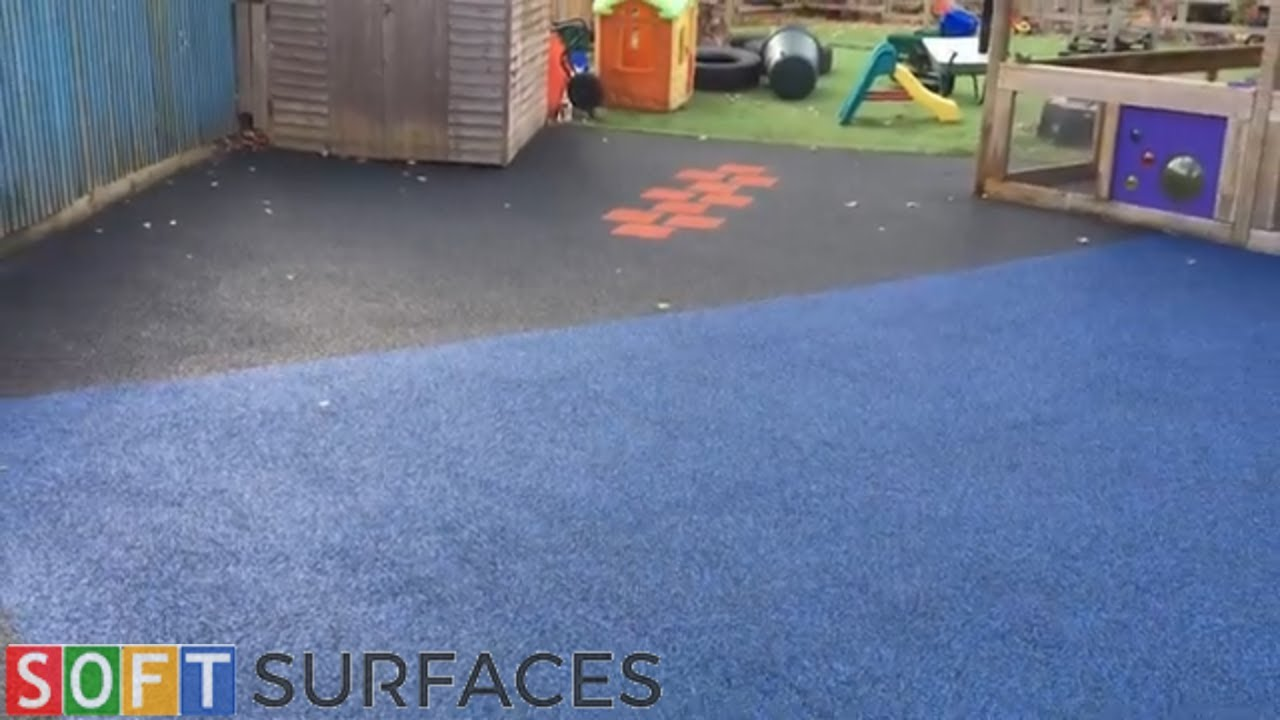 Playground Safety Surfacing with Graphics in Shrewsbury, Shropshire | Wet Pour Installation