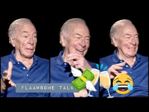 Christopher Plummer (88) Is Hilarious Talking About His LOVE For BOOZE & MONEY