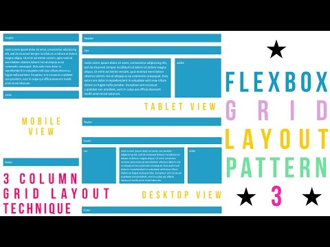 Flexbox Grid Layout Pattern - 3 - Holy Grail Layout