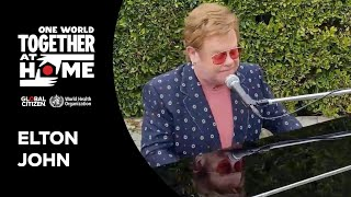 """Elton John performs """"I'm Still Standing"""" 