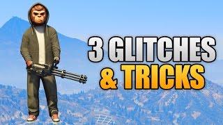 GTA 5 Online - 3 NEW GLITCHES & TRICKS (Walk In Air, Funny Body Animation & Secret Location)