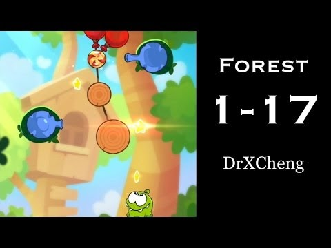 Cut the Rope 2 Walkthrough - Forest 1-17 - 3 Stars + Medal [HD]