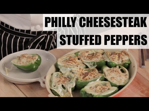 How to Make Philly Cheesesteak-Stuffed Peppers | Food Network