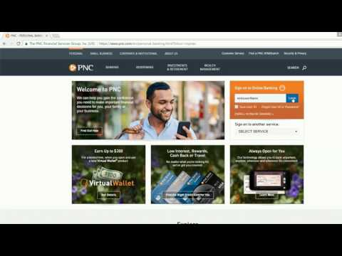 how to login into PNC Financial Services Group online banking account united states