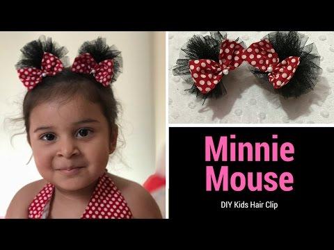 DIY Kids Hair Clip - How to Make Cute Minnie Mouse Hair Bows
