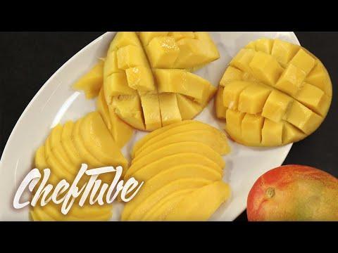 Preparing a mango