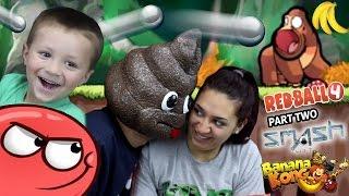 a POOPY HEAD Plays Games!  Redball 4, Banana Kong & Smash Hit (FGTEEV FAMILY GAMEPLAY)