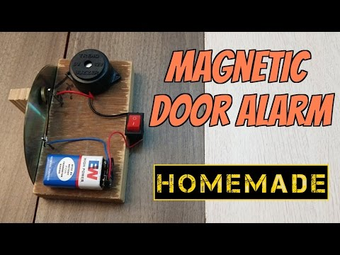 How to make a Magnetic Door Security Alarm - Theft alert Alarm - Homemade
