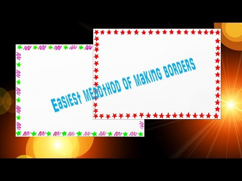 How to decorate Borders of Project files || 2 Attractive Borders for Project || Part - 3