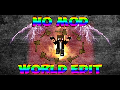 [Minecraft] No Mod World Edit 1.8 (Only One Command)
