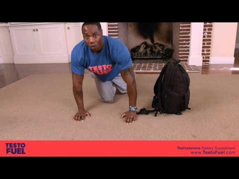 Weighted backpack training home workout for boosting testosterone