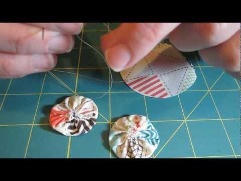 Fabric Yo-Yo Tutorial