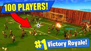 100 PLAYER SOCCER MATCH In Fortnite Battle Royale!