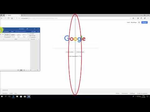 Windows 10: twee vensters naast elkaar
