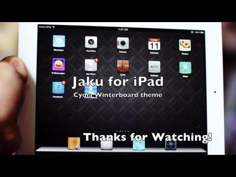 ★ Best Cydia Theme for iPad - Jaku