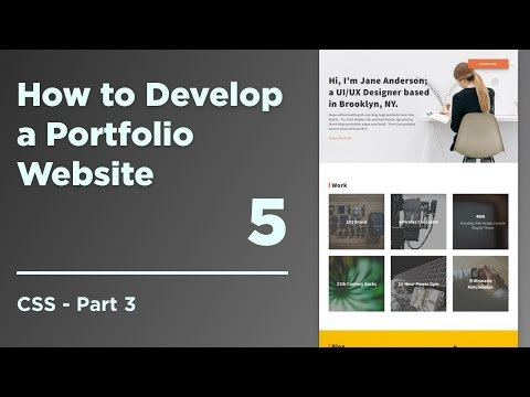 How to Develop a Responsive Portfolio - 03 CSS part 3