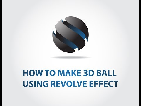 Adobe Illustrator - how to make 3D looking ball using REVOLVE effect