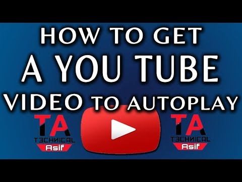 How To Make Autoplay Embed Video Link In Urdu/Hindi  Technical Asif