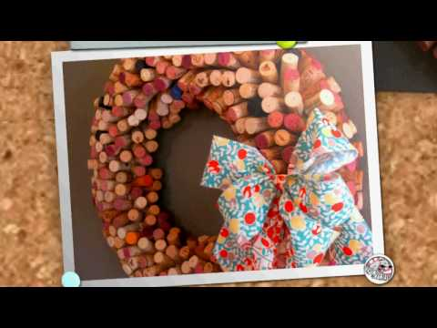 How To Make A Cork Wreath Video Tutorial