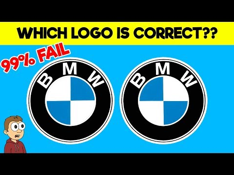 Only a REAL genius can identify the logos correctly - Logo guess puzzles (find the difference)