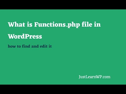 What is Functions php File in WordPress How to Edit it Tutorial 2017