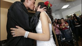 Bride fulfills her dying wish to get married