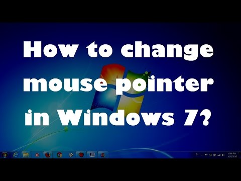 How to change mouse pointer in Windows 7 ?