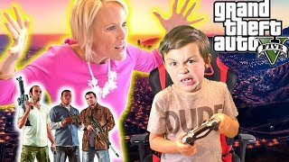 Angry GTA 5 Mom - Kid Buys Grand Theft Auto 5 with Mom's Credit Card