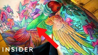 Tattoo Artist Helps People By Covering Scars