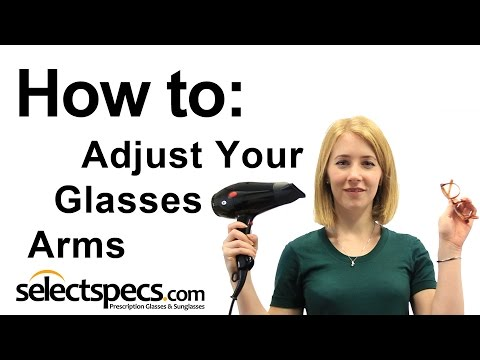 How to Adjust the Arms on your Glasses